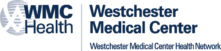 The logo for Westchester Medical Center, in navy.
