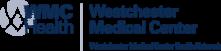 The logo for Westchester Medical Center, in navy.