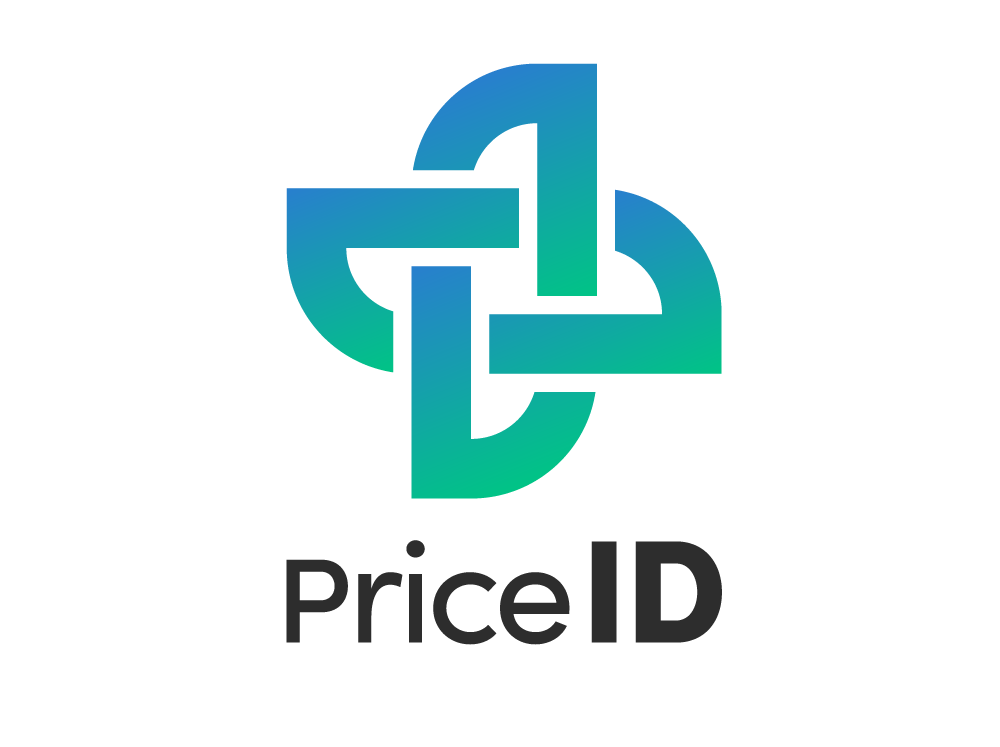The PriceID logo, with the interlocking icon above and product name below.