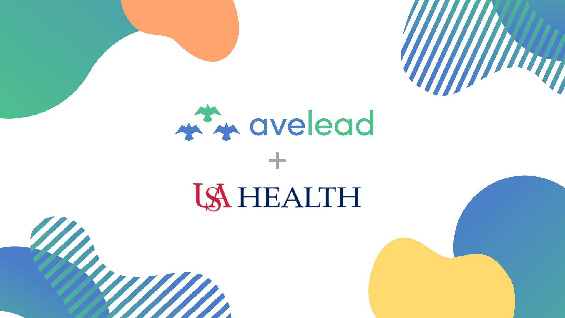 Avelead Logo + USA Health Logo